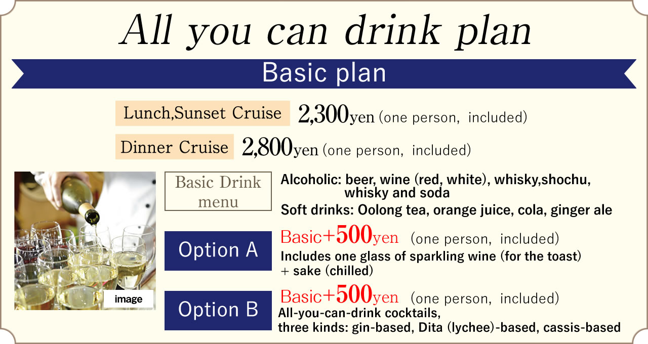 All you can drink plan